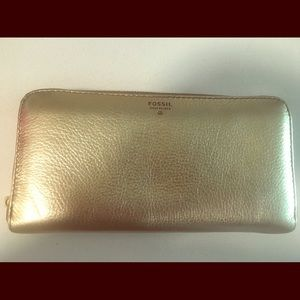 Gold Fossil Wallet